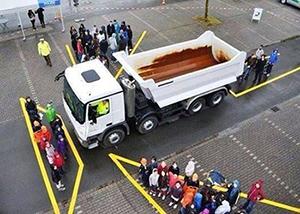 Dode hoek vrachtauto